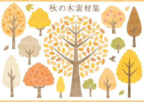 秋の木素材集