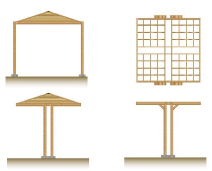 公園風雨棚和蔭徑的例證