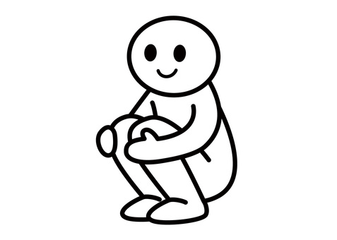 【Theme】 Stickman-Sitting in the toilet