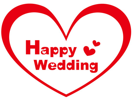 Happy wedding (heart)