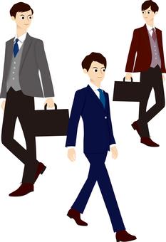 Suit male office worker