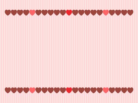 발렌타인 딸기 초콜릿 하트 배경