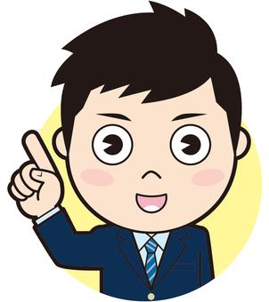 Pointing blazer boys student (commentary)