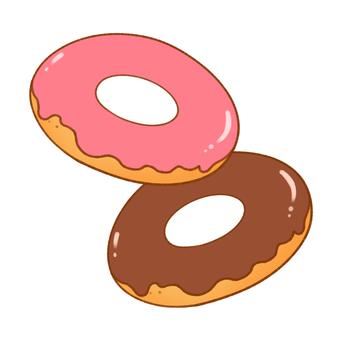 ドーナツ(チョコがけ二個)