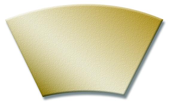 Fan - gold gradation