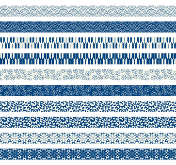 Japanese pattern decorative ruling set 08