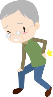 Back pain (elderly men)