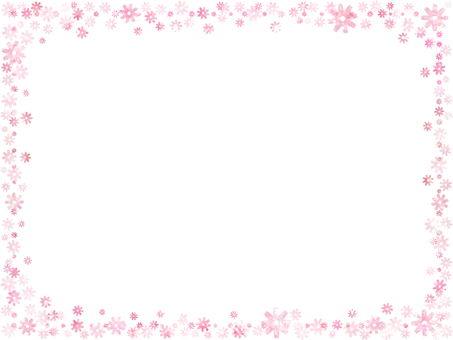 Flower frame 1 (pink)