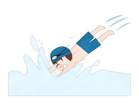 【Pool Dive】 Boys illustration