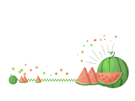 Watermelon and little star