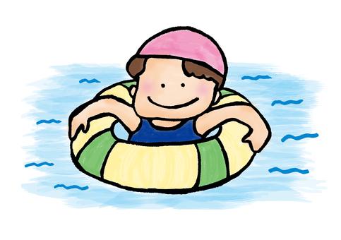 Floating wheel girl
