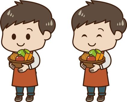 Men with vegetables 01