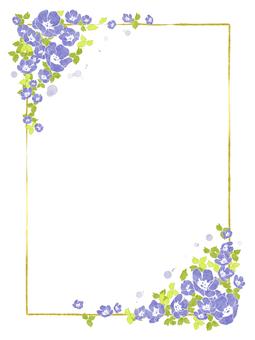 Flower frame 12 (nemophila)