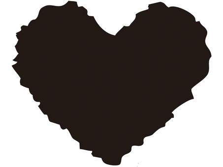 Heart (blush / ink)