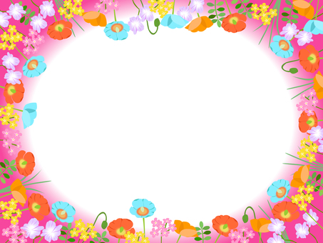 Various flower frame 03