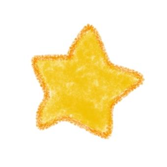 Illustration of crayonish star