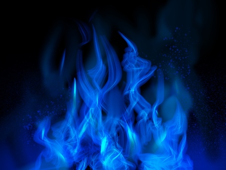 Blue flame beautiful