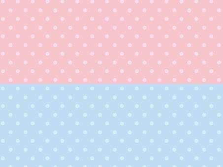 Pastel pink pastel blue dot