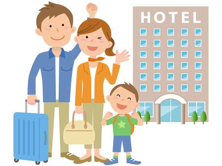 60314. Travel, three people, hotel