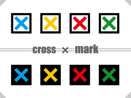 Cross mark square set TYPE02