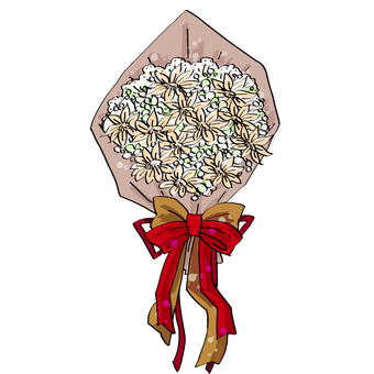 Bouquet (Kraft paper, pen style)