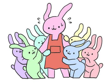 保育士 님을주고 토끼