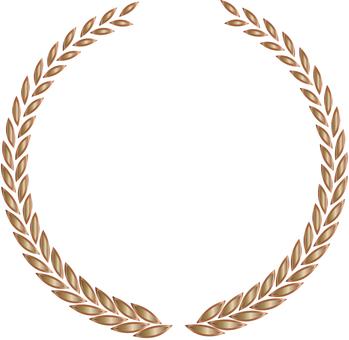 Metallic laurel frame copper