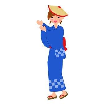 盂蘭盆舞的女人