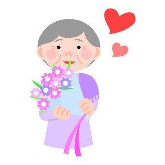 Bouquets and senior women