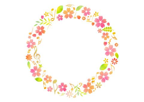 Cherry blossom material 301