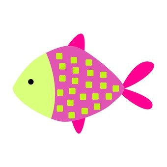 Pink and yellow fish