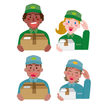Deliverymen of various countries-1