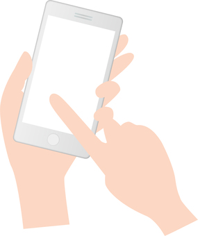 Hand to operate a smartphone
