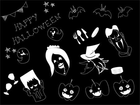 Halloween (white line)