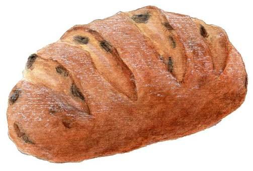 Rye bread with raisins