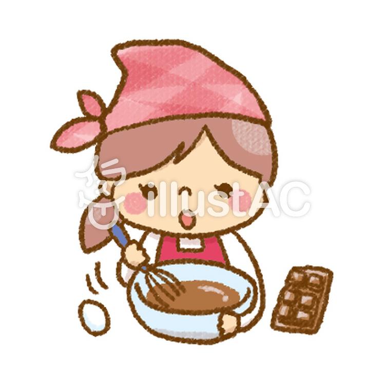 お菓子作りをする女の子イラスト No 1018150無料イラストなら