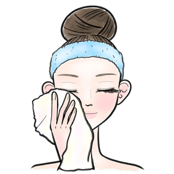 Wipe with female skin care towel