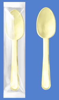 Plastic spoon bag