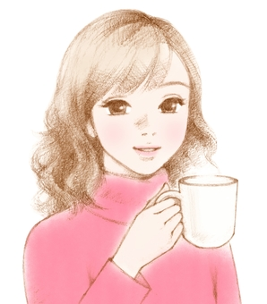 Female pink with mug
