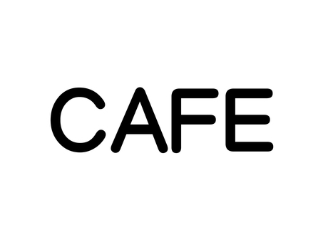 Cafe style logo (blackboard POP) White letters on black letters