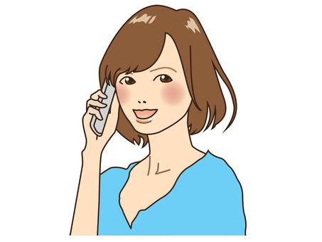 전화 여자