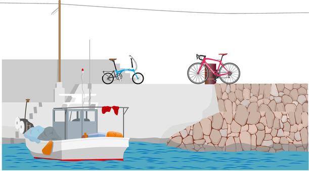 防波堤自行車