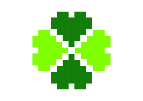 Dot picture four leaf clover
