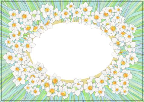수선화 꽃 프레임