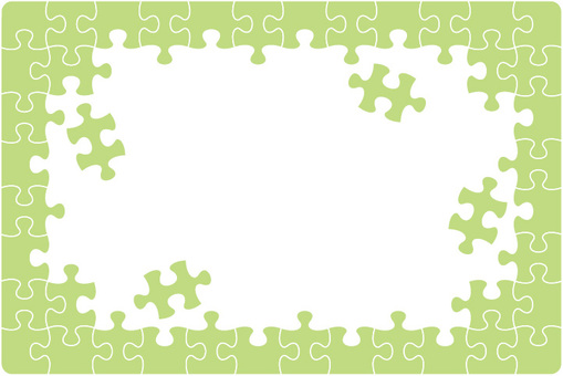 Puzzle frame green