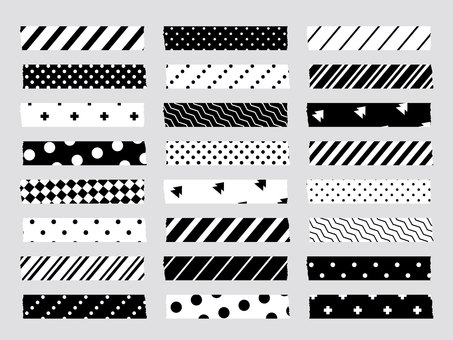 Masking tape (black and white)