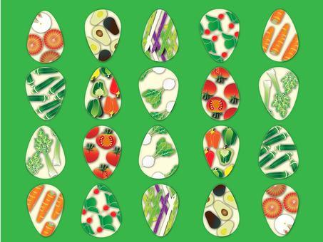 Vegetables _ green background color