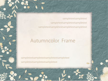 Autumn color frame ver 82
