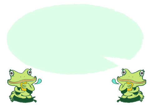 Frog _ Frog drinking tea 2