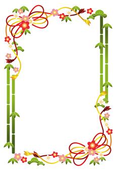 松竹梅子框架(垂直)